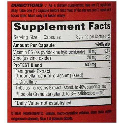 1 Up Nutrition Pro Test - Natural Testosterone Support, 60 pcs
