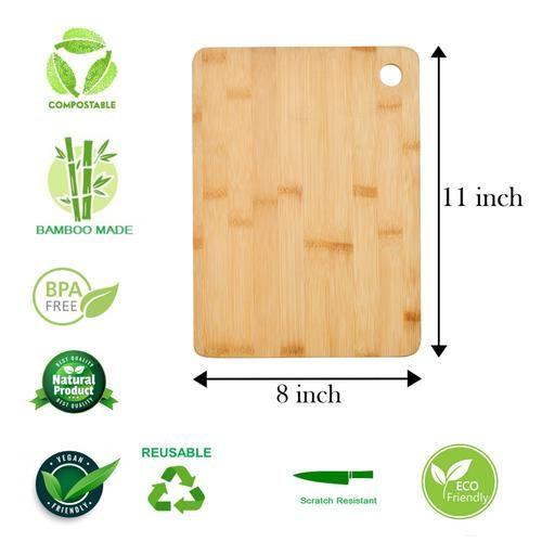 Bamboooz Bamboo Wood Chopping/Cutting Board - Medium, 8x11 Inch, 1 pc