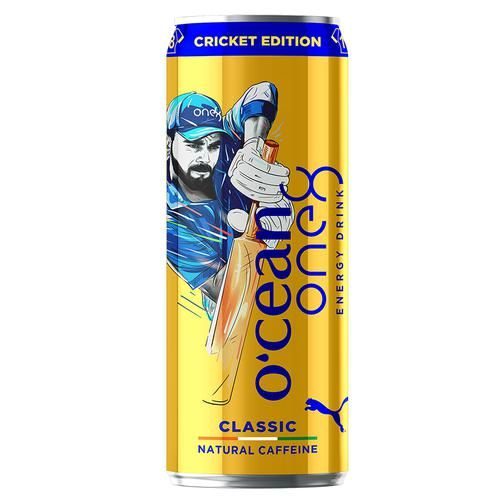 Ocean Energy One8 Energy Drink - Classic Natural Caffeine, Cricket Edition, 500 ml Can