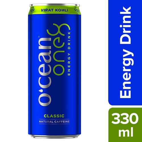 Ocean Energy One8 Energy Drink - Classic Natural Caffeine, 330 ml Can