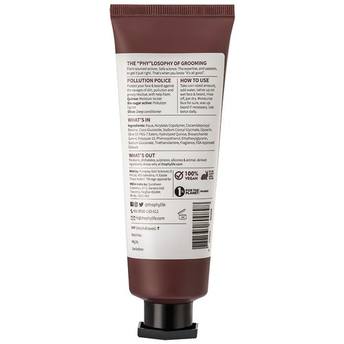 Phy The Shield - Pollution Protect Face + Beard Wash, 120 ml