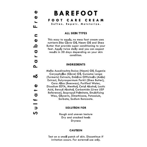 Fizzy Fern Barefoot Foot Care Cream - Hydration For Dry & Cracked Heels,  100 gm