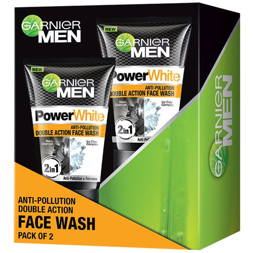 385af89a45 Buy Garnier Men Power White Anti-Pollution Double Action Facewash Online at  Best Price - bigbasket