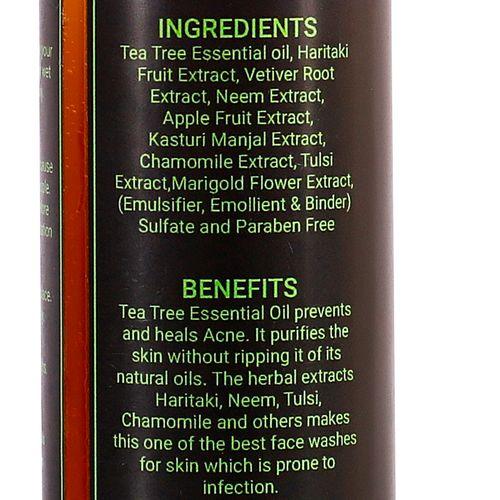 Mirah Belle Tea Tree-Haritaki Anti-Acne Face Wash, 200 ml
