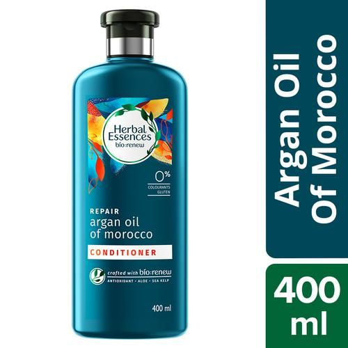 Herbal Essence Bio Renew Conditioner - With Argan Oil Of Morocco, Repairs & Smoothens, 400 ml