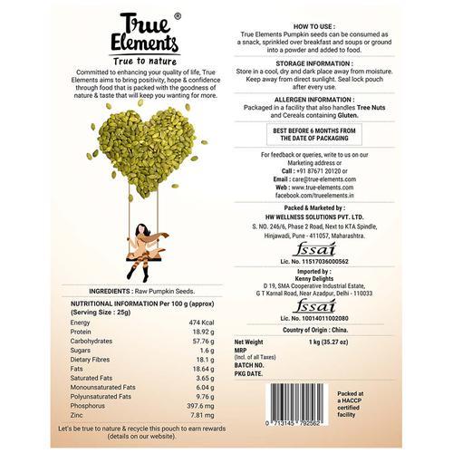 Buy True Elements Raw Pumpkin Seeds Online At Best Price Bigbasket