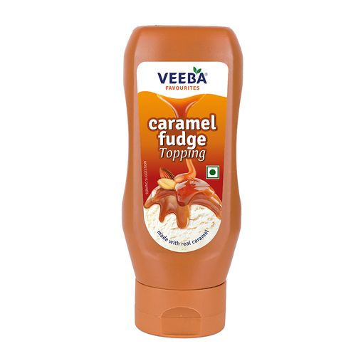 Veeba Caramel Fudge Topping, 380 g Pet Jar