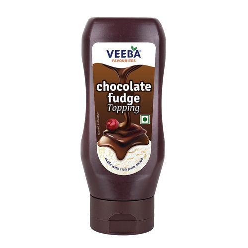 Veeba Chocolate Fudge Topping, 380 g Pet Jar