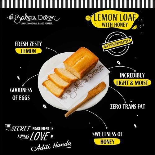 The Baker's Dozen Lemon Loaf With Honey - 100% Wholewheat, 195 g