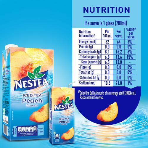 Nestea Ready-to-drink Iced Tea, Peach flavour, 200 ml Tetra Pack