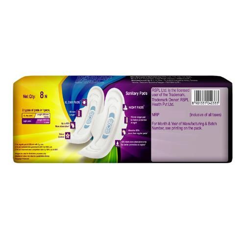 Pro-ease Sanitary Pads - Day Night Combo, 8 pcs