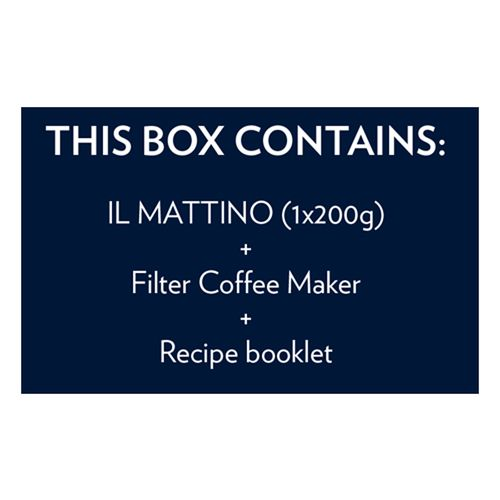 Lavazza IL Mattino Vivace & Coffee Filter Unit - Combo Pack, 200 g