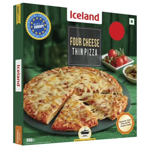 Iceland Four Cheese Thin Pizza, 300 g