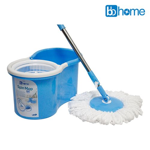 BB Home 360 Degree Spin Mop Bucket with 2 Refills, 1 pc