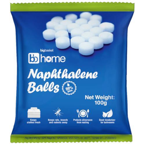 BB Home Naphthalene Balls, 100 g Pouch