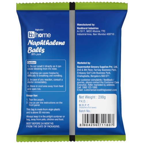 BB Home Naphthalene-Balls, 200 g Pouch