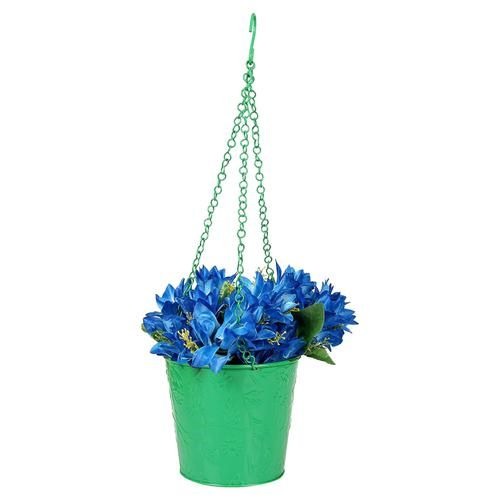 Klassic Flora - Round Shaped Hanging Planter, Green, Medium, 1 pc