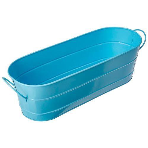 Klassic Handler - Oval Shape Pot With Handle Planter, Blue, Large, 1 pc