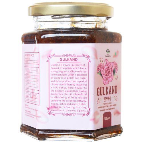 Vanalaya Natural Organic Gulkand With Cardamon, 300 g Jar
