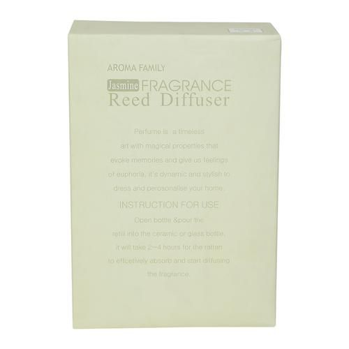 Aroma Family Fancy Reed Diffuser Glass - Green Jasmine, BB 1098, 40 ml