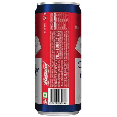 Budweiser 0.0 Non-Alcoholic Beer, 330 ml Can