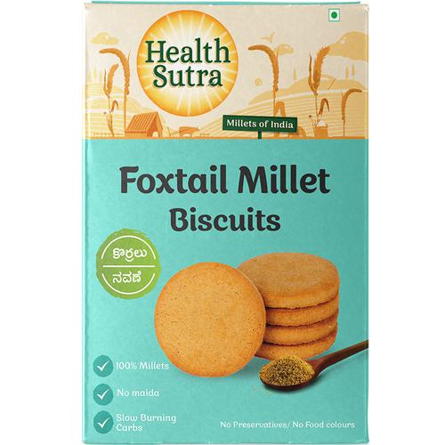 Health Sutra Foxtail Millet Biscuits, 100 g Monocarton