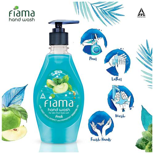 Fiama Fresh Moisturising Hand Wash - Peppermint & Green Apple, 400 ml Bottle