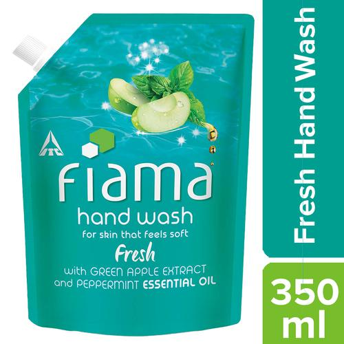 Fiama Fresh Moisturising Hand Wash - Peppermint & Green Apple, 350 ml Pouch