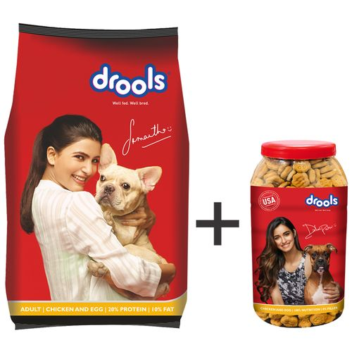 Buy Drools Dog Treats Combo Chicken Egg Dry Food Biscuits For Adults Online At Best Price Bigbasket