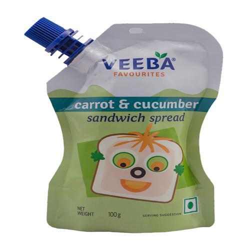Veeba Carrot & Cucumber Sandwich Spread, 100 g Pouch