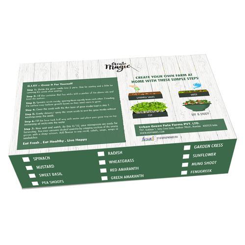 UGF Farms Microgreens Starter Kit - Soil-Less Organic Plant Seeds, Mustard, 200 g