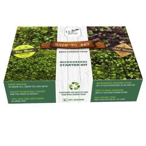 UGF Farms Microgreens Starter Kit - Soil-Less Organic Plant Seeds, Spinach, 200 g