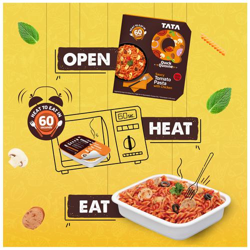 TATA Q Heat to Eat - Saucy Tomato Pasta with Chicken, 305 g