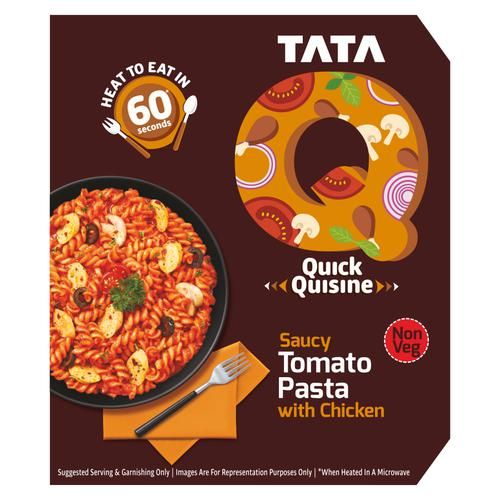 TATA Q Quick Quisine - Saucy Tomato Pasta With Chicken, 305 g