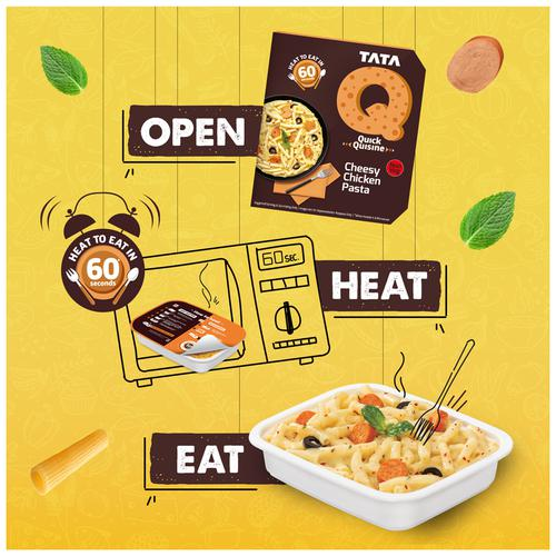 TATA Q Heat to Eat - Cheesy Chicken Pasta, 305 g