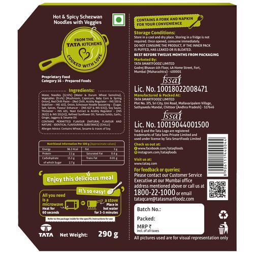 TATA Q Heat to Eat - Hot & Spicy Schezwan Noodles with Veggies, 290 g