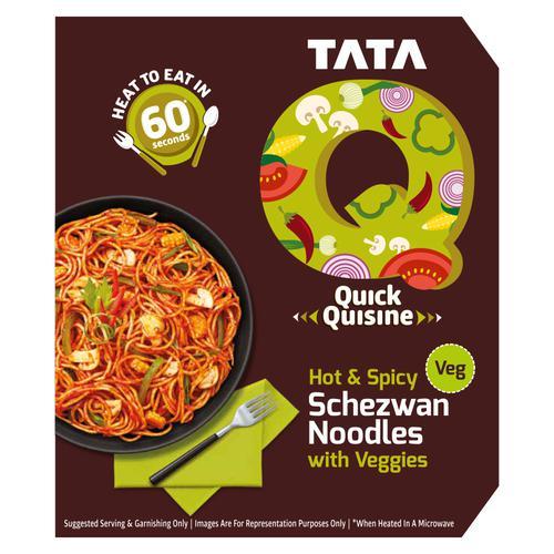 TATA Q Quick Quisine - Hot & Spicy Schezwan Noodles With Veggies, 290 g