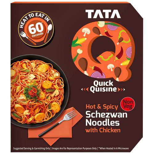 TATA Q Heat to Eat - Hot & Spicy Schezwan Noodles with Chicken, 305 g