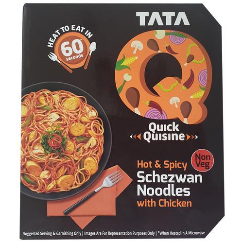 TATA Q Quick Quisine - Hot & Spicy Schezwan Noodles With Chicken, 305 g
