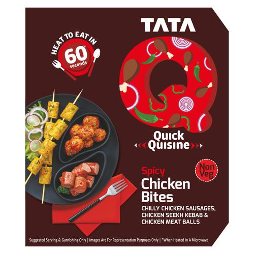 TATA Q Quick Quisine - Spicy Chicken Bites, 180 g
