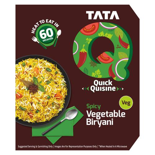 TATA Q Quick Quisine  - Spicy Vegetable Biryani, 330 g