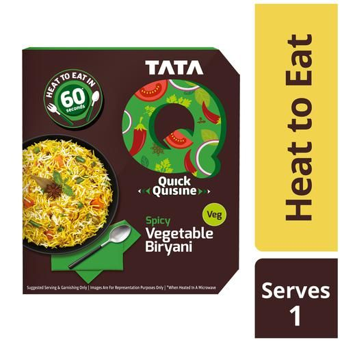 TATA Q Heat to Eat - Spicy Vegetable Biryani, 330 g