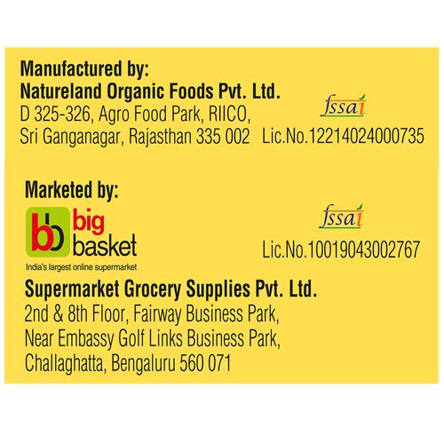 BB Royal Organic Cold Pressed Kachi Ghani Mustard Cooking Oil, 1 L Spout Pack