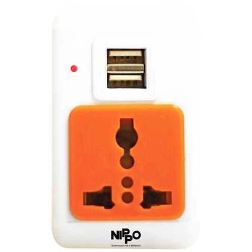 Nippo Travel Adaptor With USB Slots, 1 pc