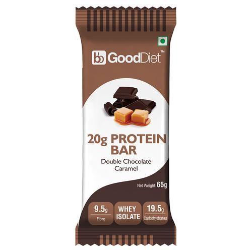 GoodDiet 20g Whey Protein Bar - Double Chocolate Caramel, 65 g