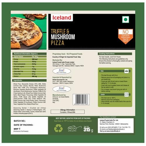 Iceland Truffle & Mushroom Pizza, 315 g