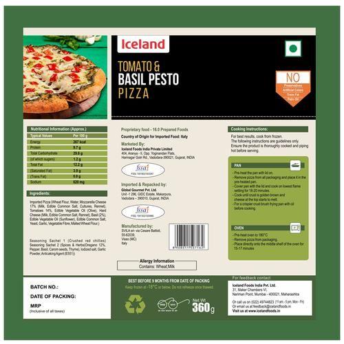 Iceland Tomato & Basil Pesto Pizza, 360 g