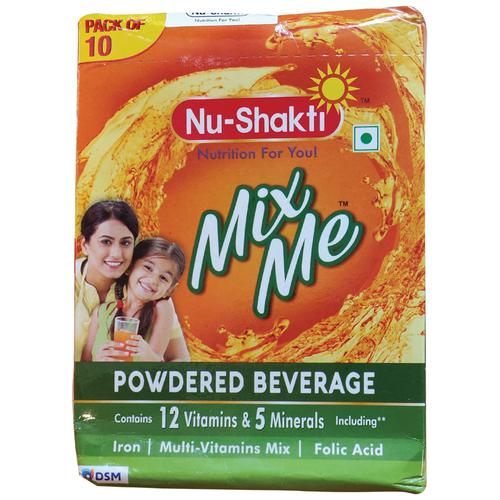 Nu-Shakti Mix Me Powdered Beverage, 20 g (Pack of 10)