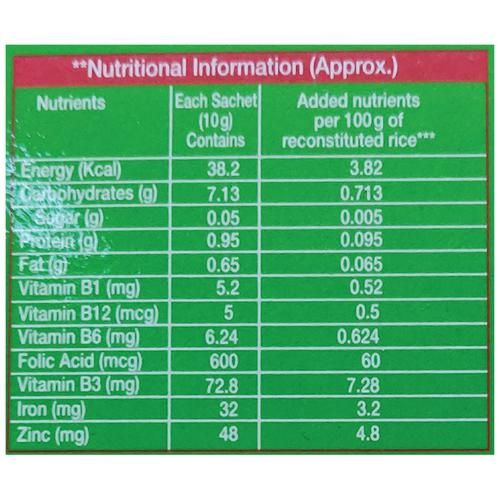 Nu-Shakti Powermix For Rice, 10 g (Pack of 10)