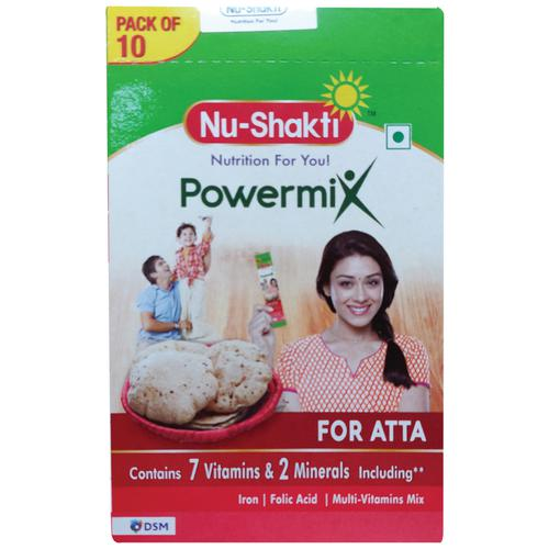 Nu-Shakti Powermix For Atta/Godihittu, 5 g (Pack of 10)